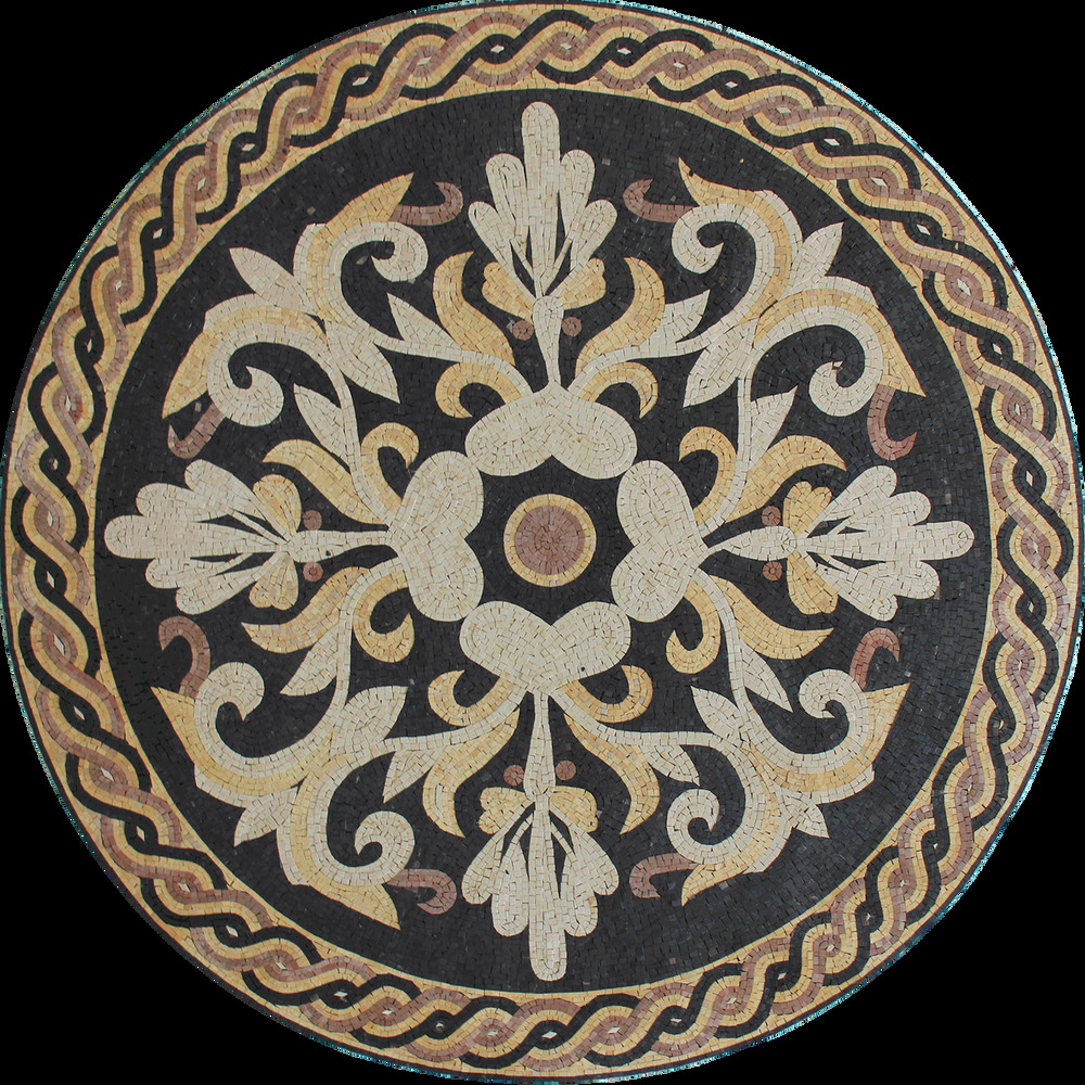 Classic floral central floor medallion home decor marble for Mosaic home decor