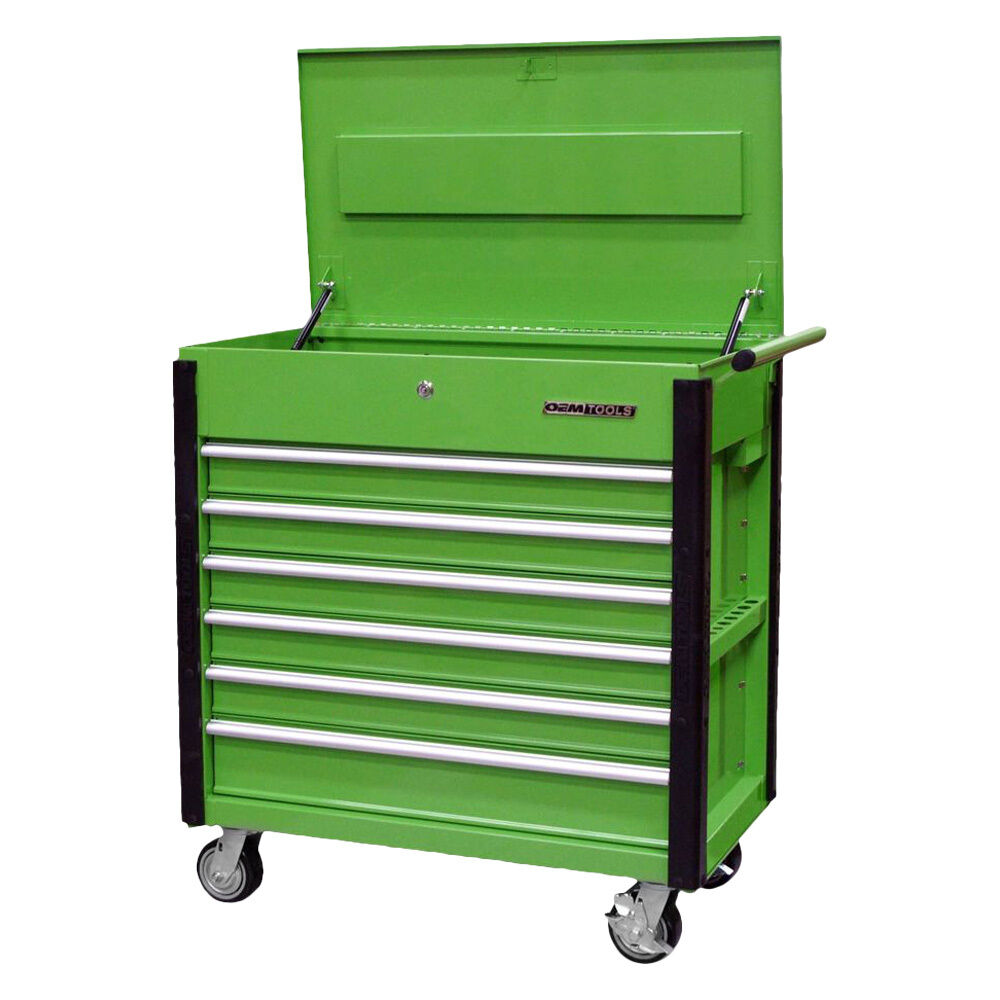 quality craft 24969 green 6 drawer professional tool On quality craft tool box