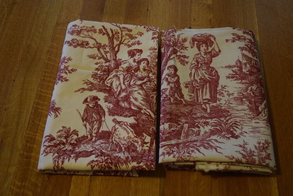 Waverly Country Life / Weekend Red Toile Decorator Fabric