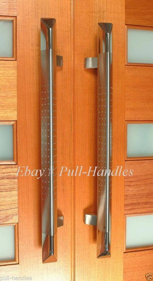 Pull Push Door Handle Stainless Steel 36 Inches For Glass Wood Entry Entrance Ebay