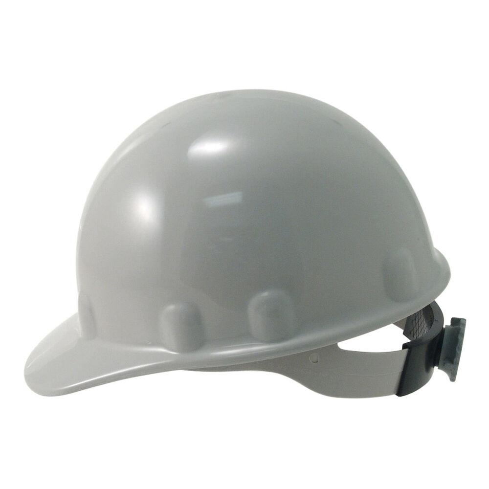 fibre metal supereight hard hat with ratchet suspension gray ebay. Black Bedroom Furniture Sets. Home Design Ideas