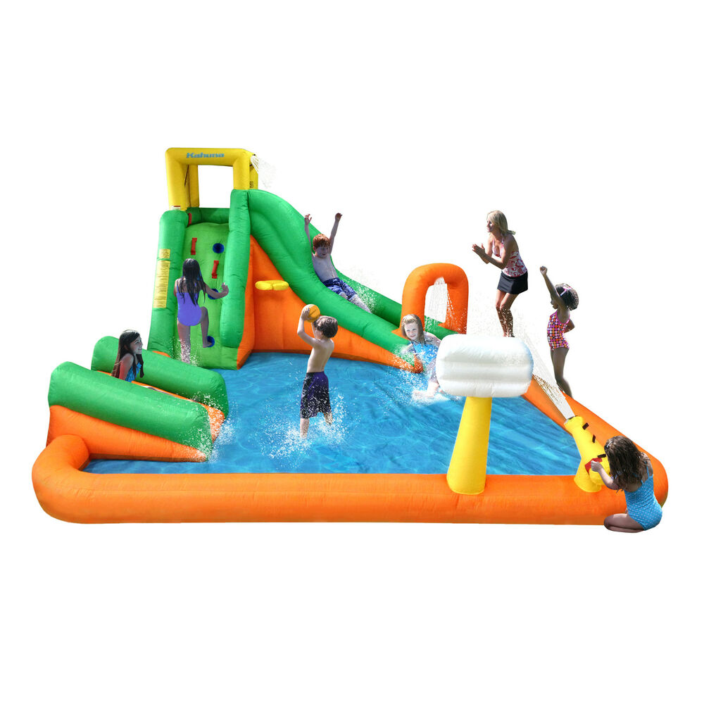 Inflatable Slide Walmart: Magic Time Titan Falls With Junior Inflatable Water Slide