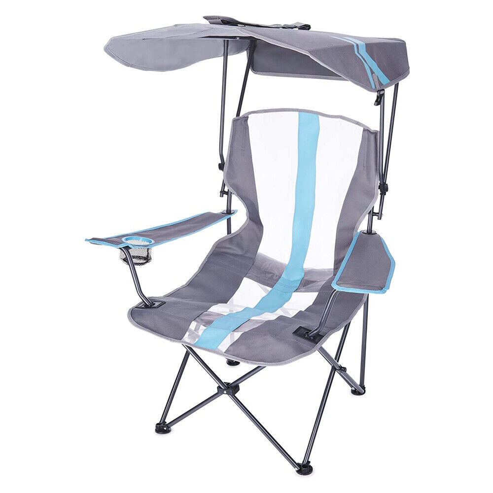 Kelsyus Premium Portable Camping Folding Lawn Chair With Canopy Blue 80185 Ebay