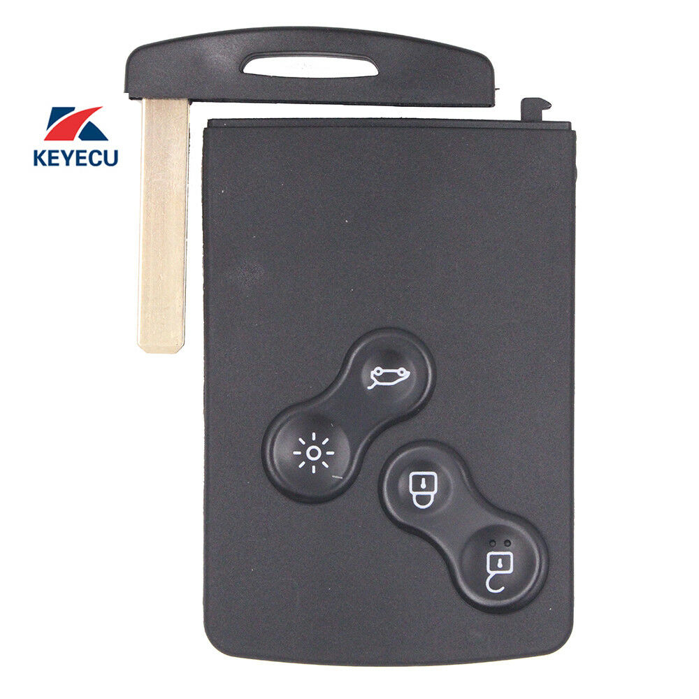 New Keyless-Go Remote Key Fob 433Mhz PCF7952 For Renault
