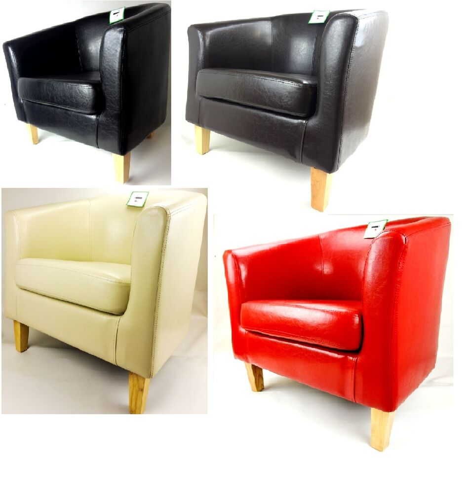 Brand New Faux Leather Pu Tub Chair Armchair Dining Room