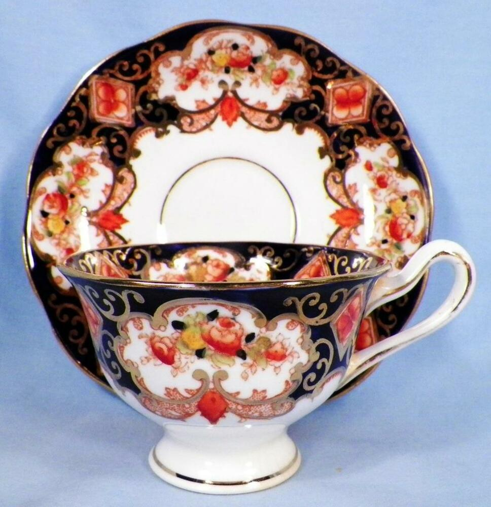 Royal Albert Heirloom Cup Amp Saucer Footed Crown China 4534