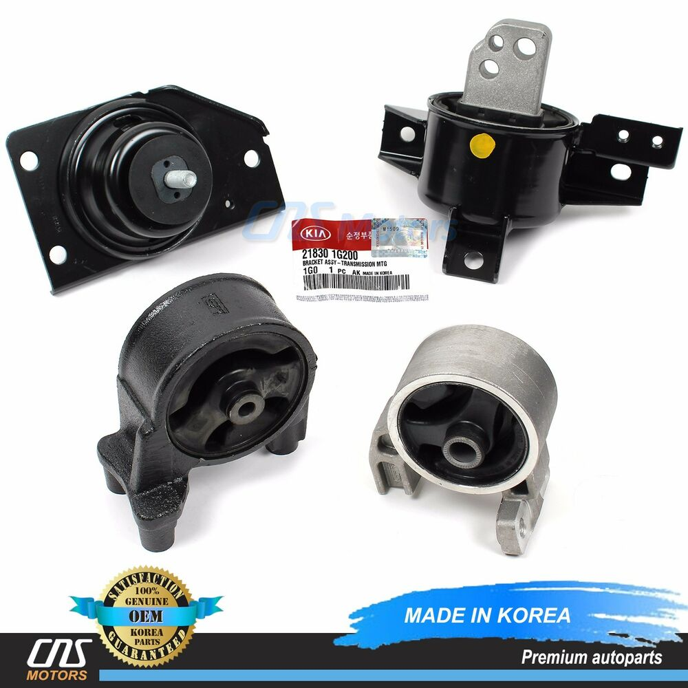 Engine Mount Transmission Mount Set A T For 06 11 Hyundai Accent 21830 1g200 Ebay
