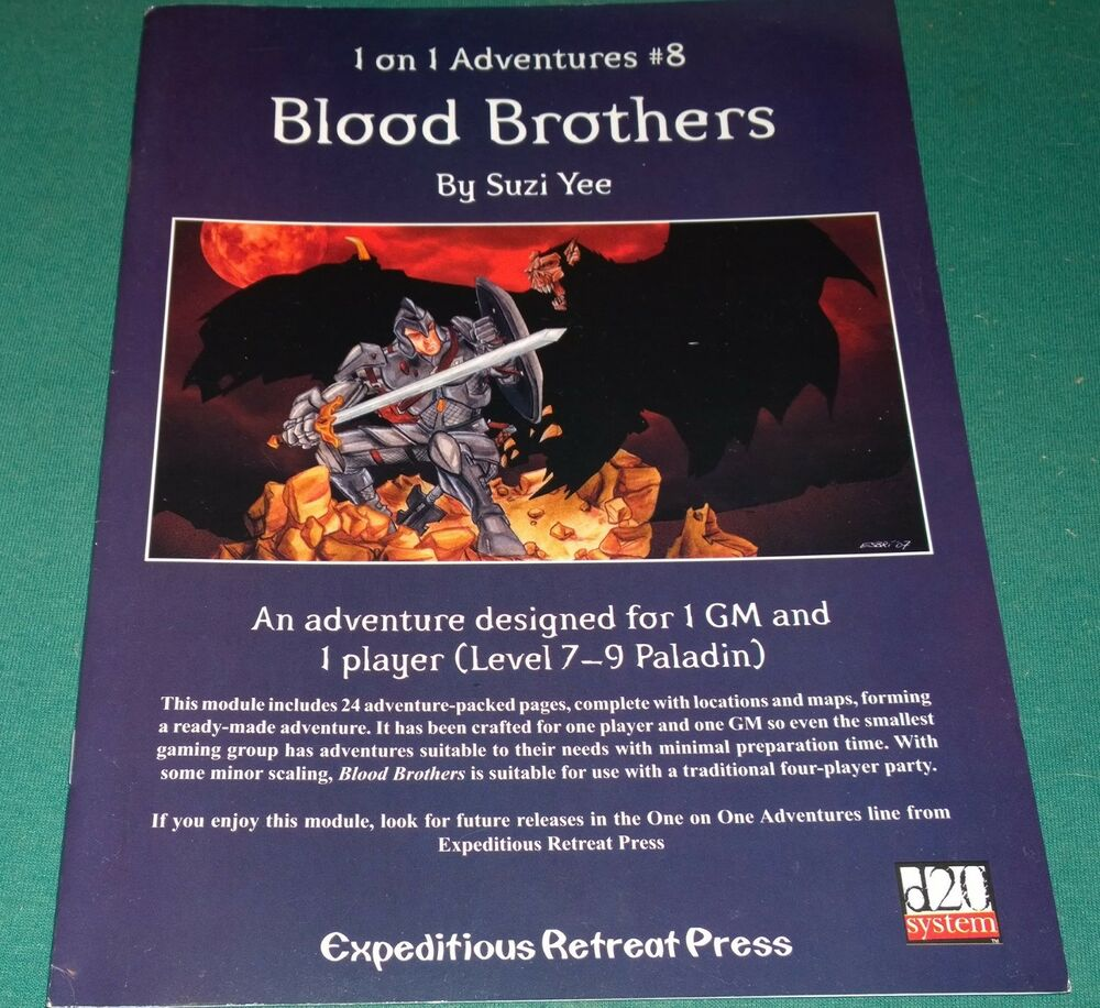 Expeditious Retreat d20 RPG Blood Brothers #8 SC dungeons ...