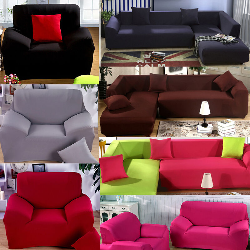 New Slipcover Stretch Sofa Cover Sofa With Loveseat Chair: Loveseat Arm Chair Seater Stretch Sofa Couch Lounge
