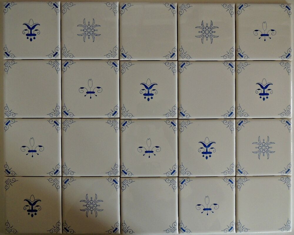 Blue And White Delft Style Country French Kitchen Tiles Ebay