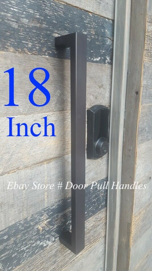 Pull Handle Stainless Steel Square Black Entrance Entry