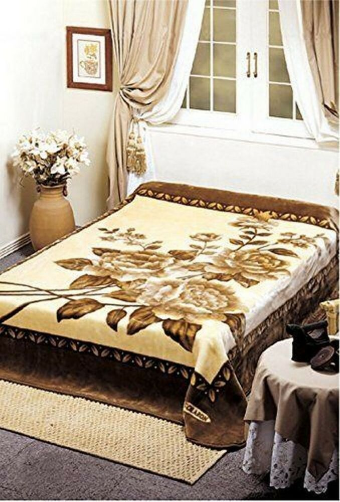 Original Solaron Korean Blanket Thick Mink Plush Throw King Size Roses New Ebay