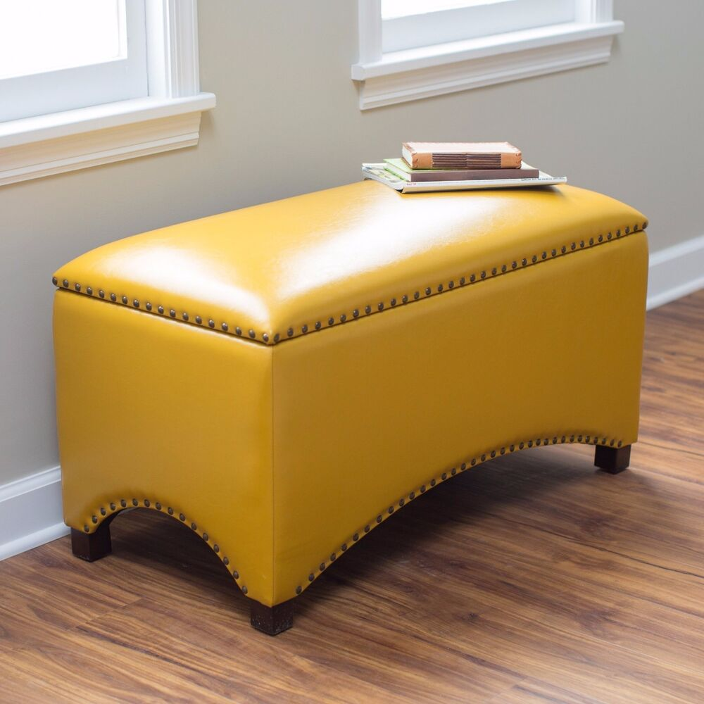 bedroom storage ottoman leather storage bench seat bedroom ottoman upholstered 10688