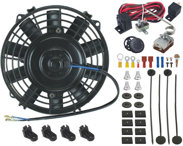 Engine Fan Switch : Quot inch mini electric fan adjustable thermostat switch kit