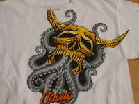 Boy's Oneal XL 18/20  O'Neill t shirt white Byerly surf skate NEW youth