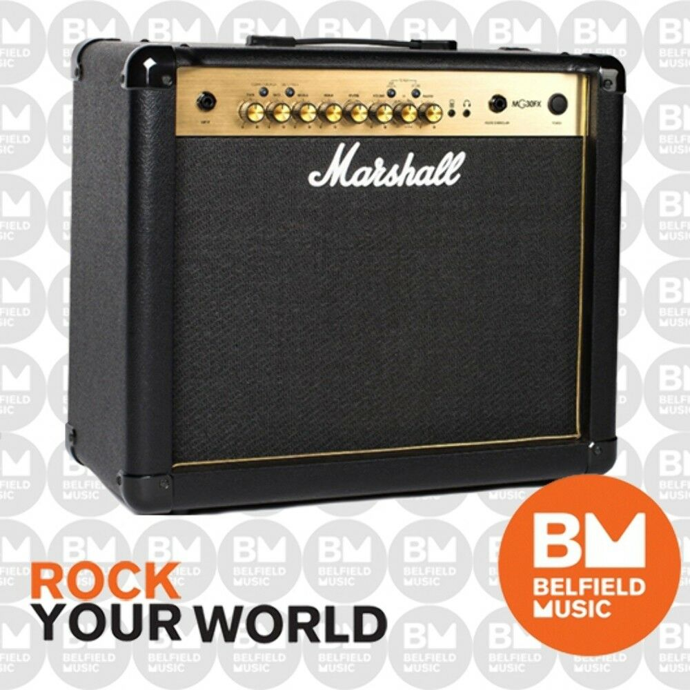 marshall mg30gfx guitar amplifier combo amp 30w fx gold series replaced mg30cfx 811501022039 ebay. Black Bedroom Furniture Sets. Home Design Ideas