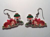 Kittens Earrings Christmas Cats Lamp Charms