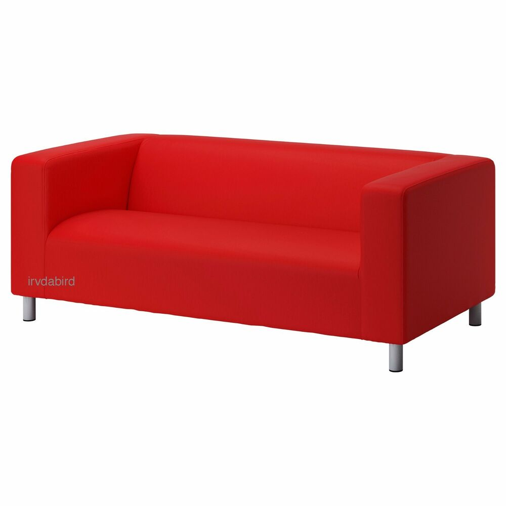 Ikea Cover For Klippan 2 Seat Loveseat Couch Vissle Red Orange New Ebay