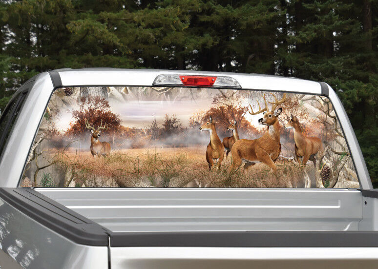 Whitetail Buck Deer Camo Quot Obliteration Quot Rear Window Decal