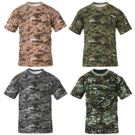 img-Mens Military Digital Camo Army Combat Camouflage T Shirt Woodland Top ACU XS-XL