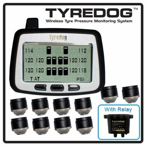 Tyredog Td2000 10 Wheel Sensor Tire Pressure Monitor For