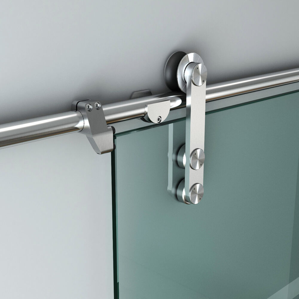 5ft 13ft stainless steel glass sliding barn door hardware for Sliding glass doors hardware