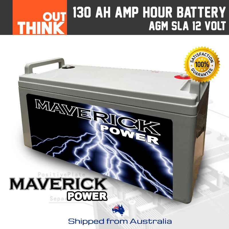 12V 130AH AMP HOUR AGM BATTERY SLA 12 VOLT DEEP CYCLE DUAL