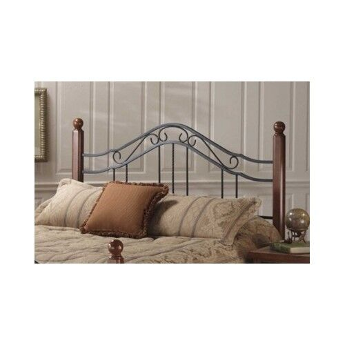 Queen wood headboard full king size bed cherry finish for L furniture warehouse queen