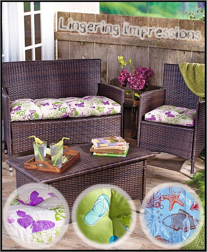 Patio Furniture Cushion Cover Patterns: Outdoor CHAIR Or LOVESEAT Cushions Patio Padded Water