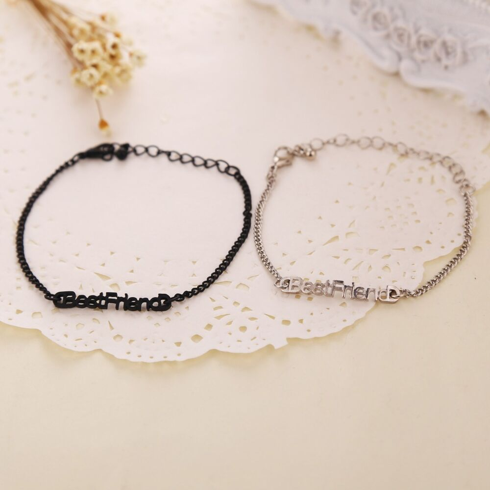 Popular Bangle Bracelets: Fashion Women Girl Simple Best Friends Chain Bracelet