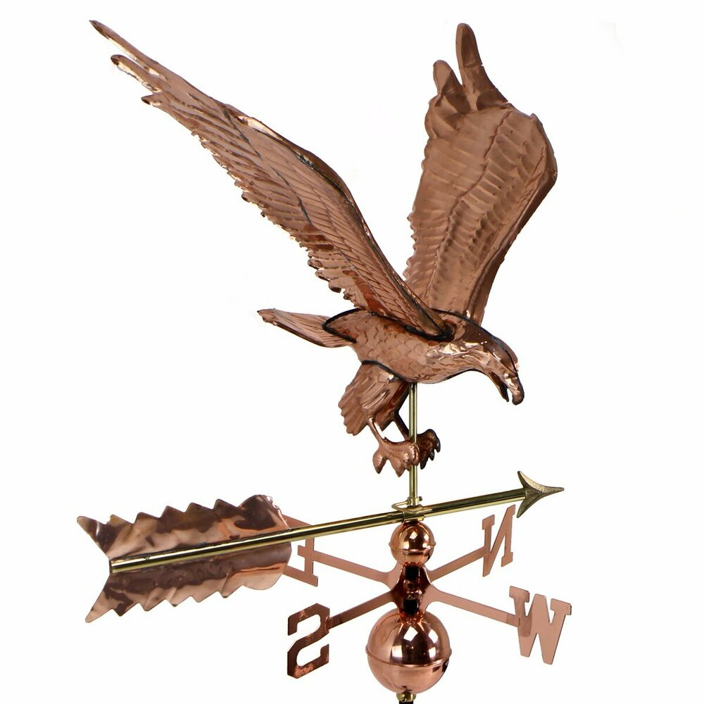 Vintage Tower Of Winds Weathervane: Copper Polished Eagle Weathervane Weather Vane Roof