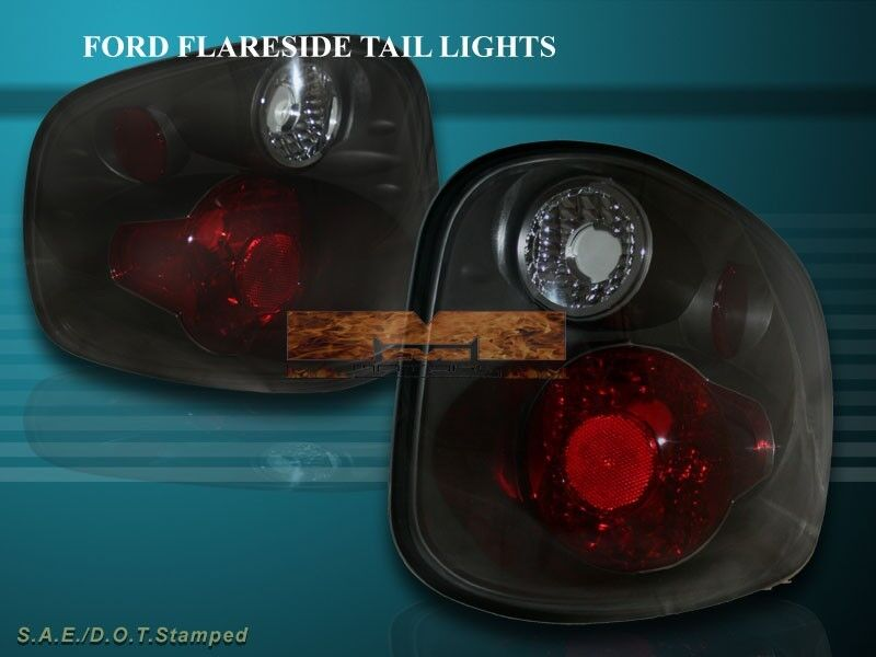 2001 2003 ford f150 f 150 flareside tail lights dark smoke 2002 ebay. Black Bedroom Furniture Sets. Home Design Ideas