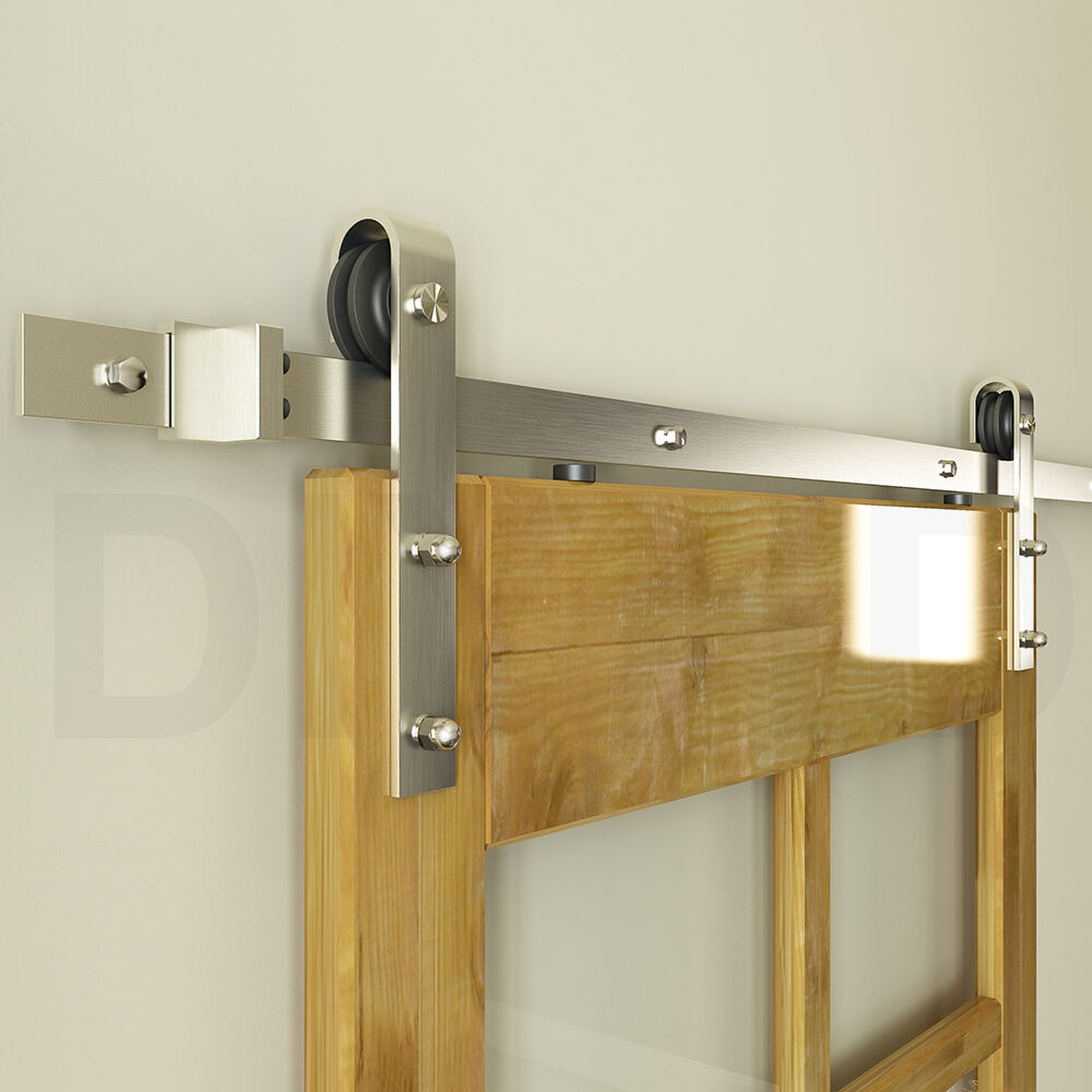 5 12ft Stainless Steel Sliding Barn Wood Door Hardware