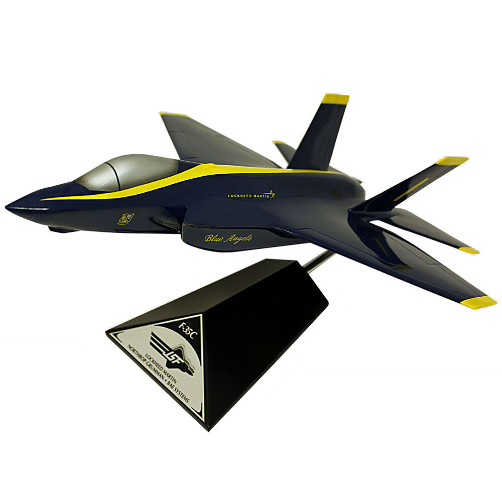 Us Navy Lockheed F 35c Blue Angels Desk Display Model 1 40