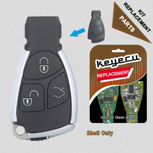 Modified new smart remote key shell case fob 3b for for Mercedes benz key fob