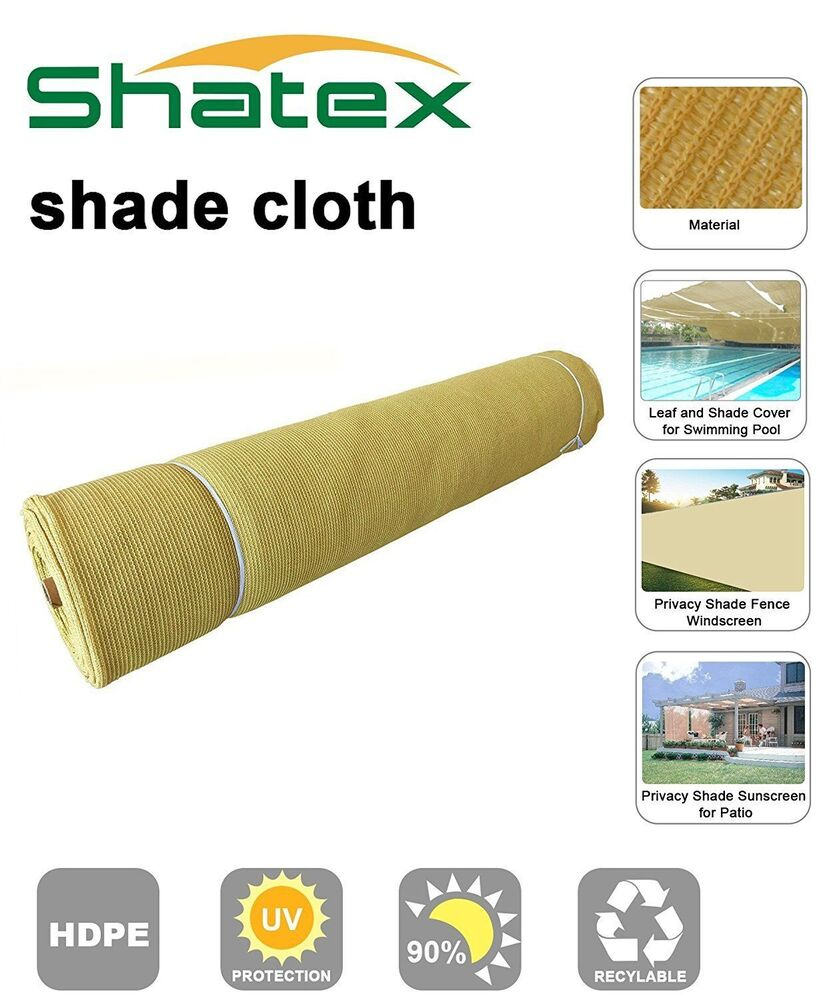 Shatex 90 Heavy Shade Fabric Roll For Pergola Cover Patio