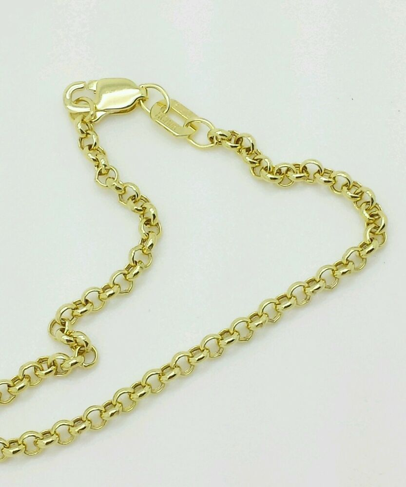 "10k Yellow Gold Rolo Anklet Chain 10"" 23mm  Ebay. Split Shank Rings. Awareness Bracelet. Black Hills Gold Necklace. Analogue Watches. Personalized Silver Bangle Bracelets. Vanna K Engagement Rings. Blue Bead Necklace. Large Gold Necklace"