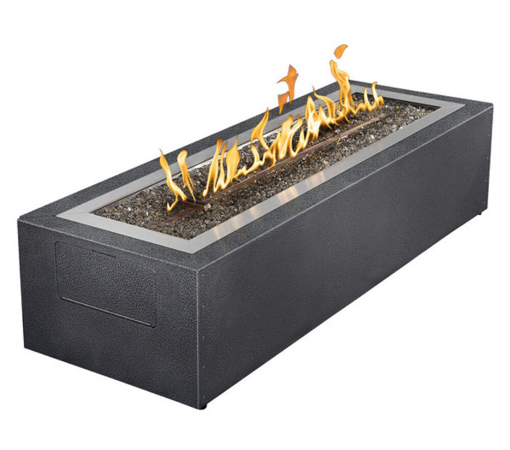 Gas Fireplace Kits : Napoleon gpfl mhp linear outdoor modern patio flame fire