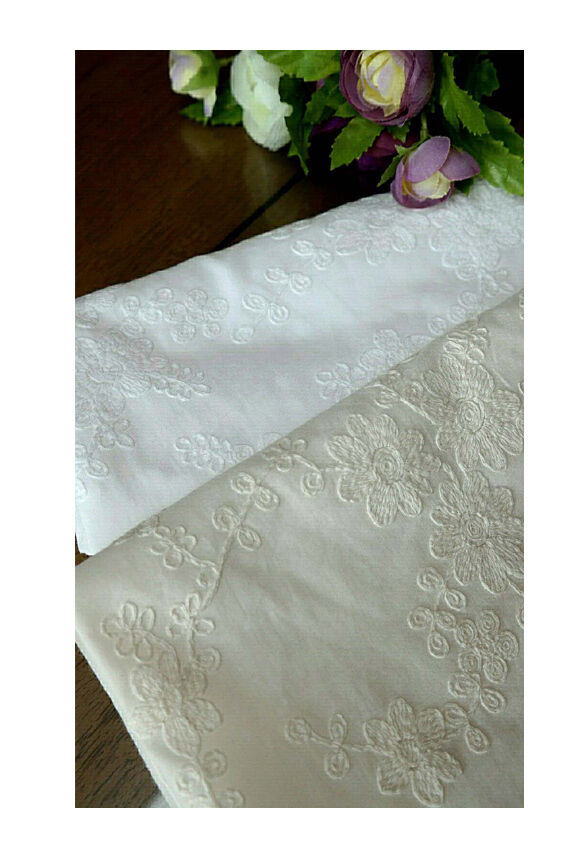 Y embroidery flower eyelet cotton lace fabric cm