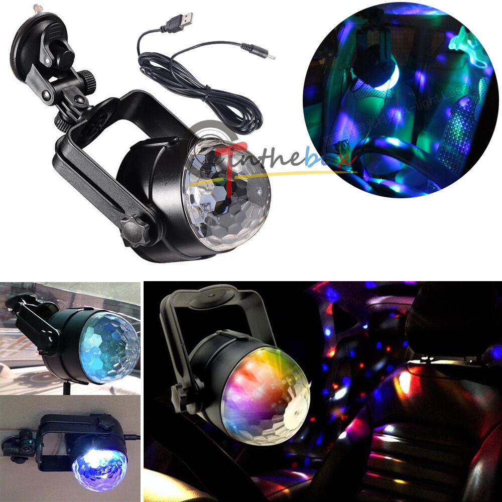 1pc auto car disco dj stage lighting led rgb crystal ball lamp bulb light party ebay. Black Bedroom Furniture Sets. Home Design Ideas