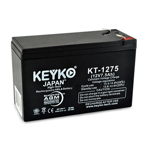 12v 7 5ah sla sealed lead acid replacement battery keyko. Black Bedroom Furniture Sets. Home Design Ideas