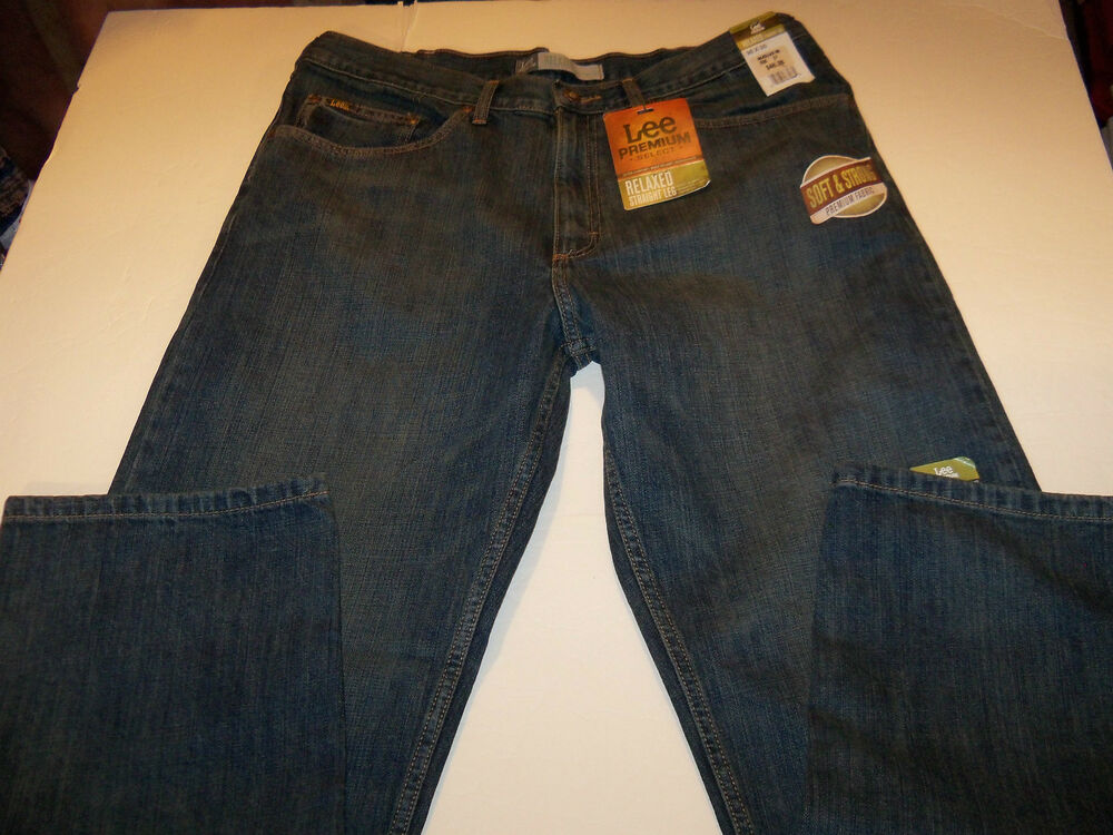 38 x 30 lee premium select relaxed straight leg jeans nwt ebay. Black Bedroom Furniture Sets. Home Design Ideas