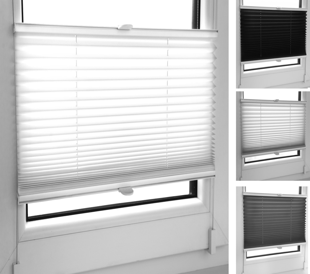 Pleated Blinds Many Sizes Colours Easy Fit Install Plisse