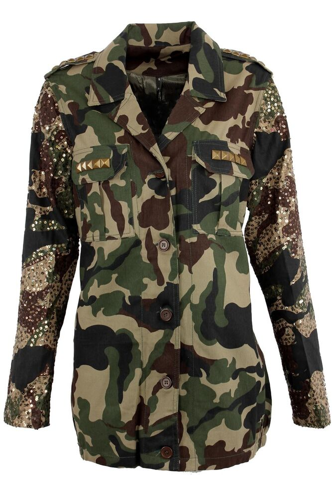 New Womens Superdry Ultimate Service Jacket Camo Green  |Camo Jackets For Women