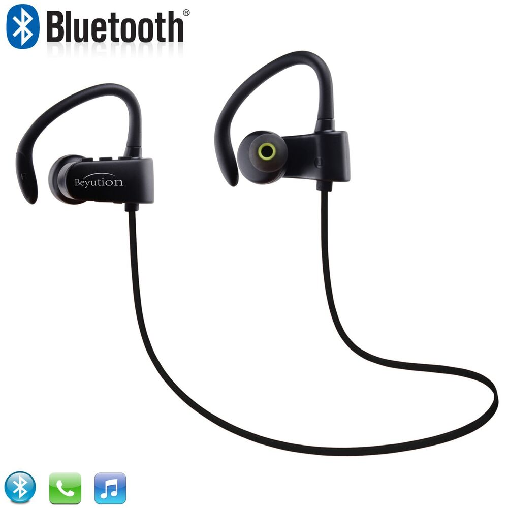 Wireless Headphones Bluetooth SPORT Stereo Headset Earphone F Samsung IPhone LG