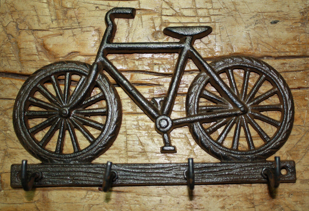 Cast Iron Bicycle Towel Coat Hooks Hat Hook Key Rack