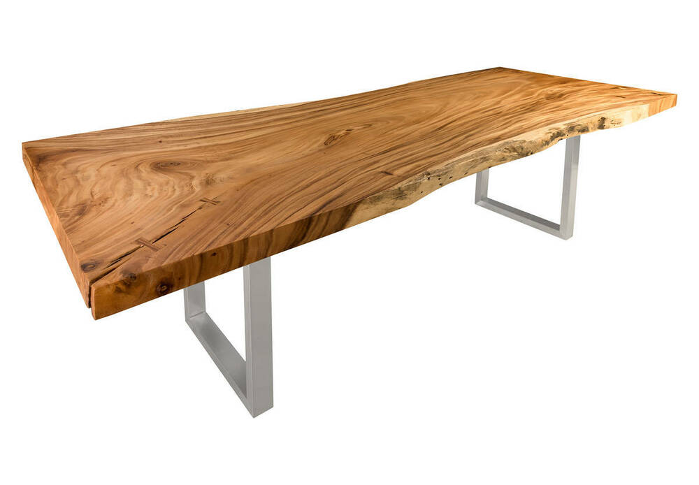 120quot Acacia dining table solid wood slab free form  : s l1000 from www.ebay.com size 1000 x 694 jpeg 44kB