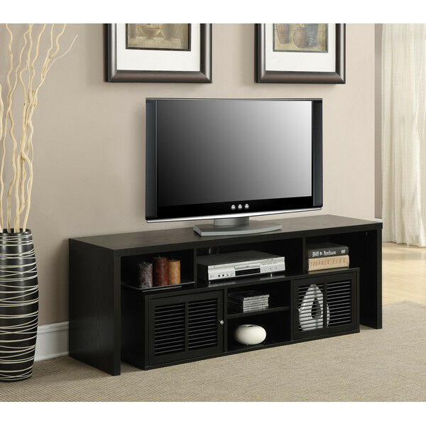 Tv Tables Big Tv Stand: TV Stand Entertainment Center Media Wood Flat Screen