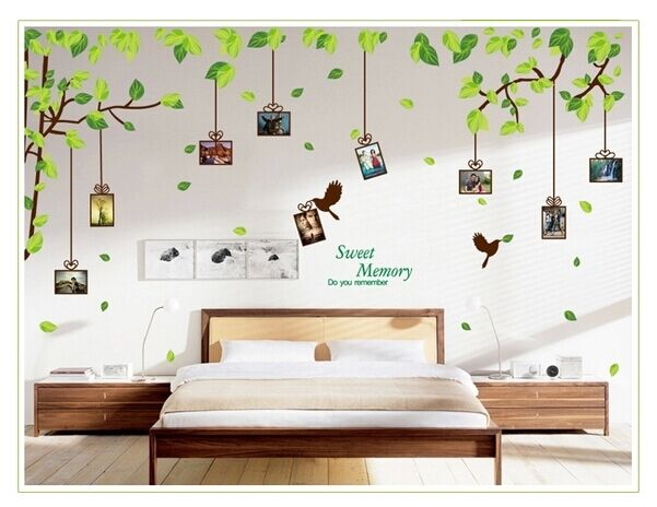 Art vinyl quote diy memory tree wall sticker decal mural for Diy tree wall mural