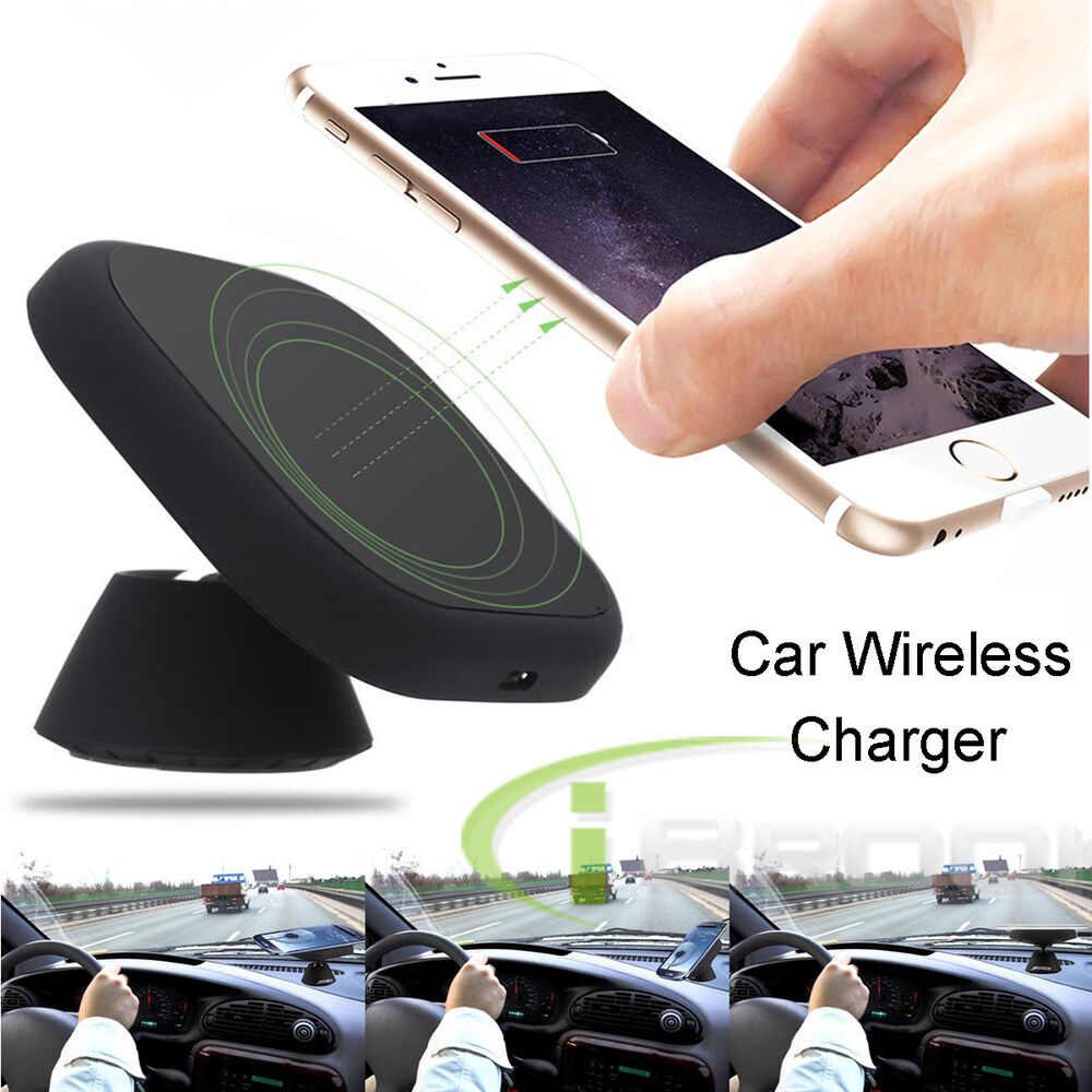 qi wireless car charger charging pad holder for samsung. Black Bedroom Furniture Sets. Home Design Ideas